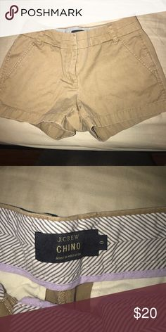 """Sz 0 Jcrew Khaki Chinos 3"""" Only worn once in perfect condition jcrew Shorts"""