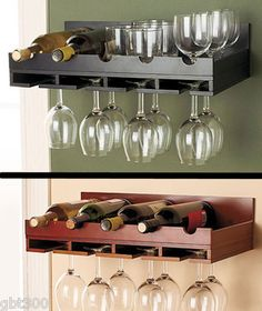 foter glass rack mounted stemware explore wall