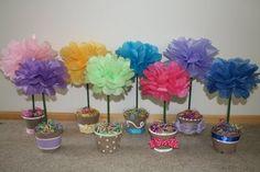 Tissue paper Flower Centerpieces!