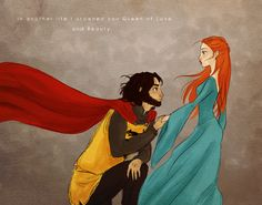 """In Another Life... by lyles.deviantart.com    SanSan fan right here folks. Ugh, I love them so much it hurts to be alive.   Anyway, before I get too melodramatic; this is a piece I drew of my favourite couple in George RR Martin's """"A Song of Ice and Fire"""" series.   Or for those who don't know it, simply a knight and his lady."""