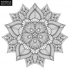 Outline mandala for coloring book. yoga logo, background for meditation poster. Mandala Art, Mandalas Painting, Mandalas Drawing, Mandala Coloring Pages, Coloring Book Pages, Dot Painting, Flower Mandala, Logo Background, Background Patterns