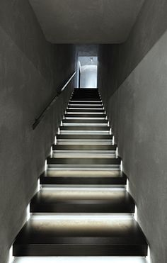 LED Light Strip Would Work. Might Have To Cut A Channel · Stairway  LightingStairsHuman SettlementLed ...