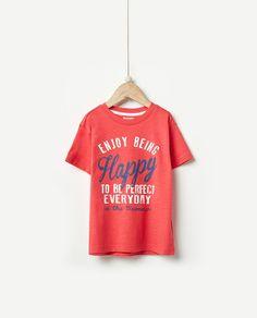 Camiseta de niño Sfera con texto Kids Wear 7166fa2374bf6