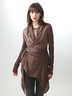 Rick Owens Leather Wrap Jacket - must have!