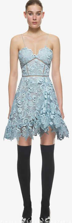 ecc8d484f768a Self Portrait - Paisley Vine Mini Dress #selfportrait Crotchet Styles,  Feminine Dress, Patchwork