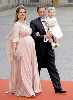 Pregnant Princess Madeleine leads the royal guests at Prince Carl Philip and Sofia Hellqvist's wedding