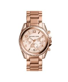 Michael Kors Blair Chronograph Rose Gold-tone Bracelet (MK5263) - 42mm - The Watches Men & Co - 1