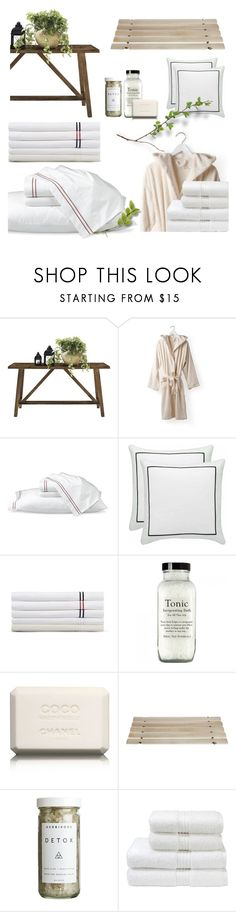 """""""Hotel Bedding"""" by jill-bh ❤ liked on Polyvore featuring interior, interiors, interior design, home, home decor, interior decorating, Altra, Zara Home, Williams-Sonoma and Sferra"""