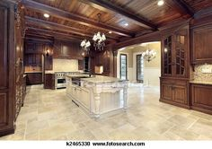 Luxury kitchen design is the heart of a luxury home. We chose 174 of jaw dropping luxury kitchen designs to as inspiration for your home. Dark Wood Kitchens, Brown Kitchens, Cool Kitchens, Modern Kitchens, Dream Kitchens, Black Kitchen Cabinets, Custom Kitchen Cabinets, Dark Cabinets, Wooden Cabinets