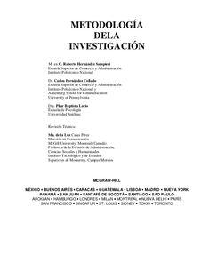 Metodología de la investigación  - Hernández sampieri by Alberto Espinoza Castellares via slideshare