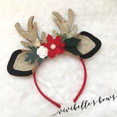 Your place to buy and sell all things handmade Reindeer Ears, Reindeer Headband, Felt Headband, Baby Headbands, Rose Headband, Flower Headbands, Christmas Crafts, Christmas Ornaments, Christmas Decorations