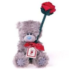 peluche me to you avec rose cadeau saint valentin cadodescom