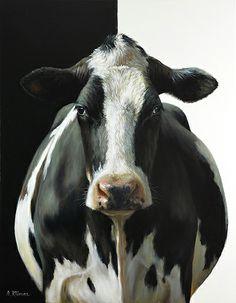 Sold | Hiske the Cow, oli/canvas 24 x 32 inch (80 x 60 cm) © 2012 Klimas