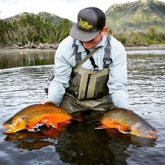 Will McCabe with a beautiful double on arctic char.