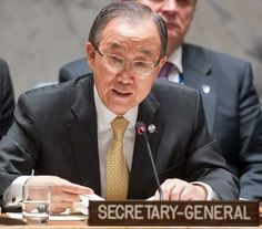 UNITED NATIONS BAN KI MOON shows he is nohing but a weak PUPPET