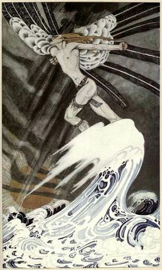 Kay Nielsen, 1914. Scandinavian Fairy Tale Illustrations.