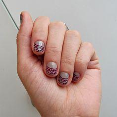 #nail #nailart aztec-inspired nail tips . how to-sday  by Shrimp Salad Circus