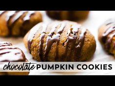 Chocolate Glazed Pumpkin Cookies {vegan, gluten-free, paleo} - YouTube