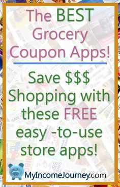 The BEST Grocery Coupon Apps! Save money on food shopping with these FREE easy to use apps.  ibotta, mobisave, checkout51, walmart savings catcher, and more!  Save money, cut down on your grocery bill, and become a deliberate shopper!