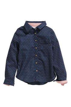 Camisa de algodón estampada