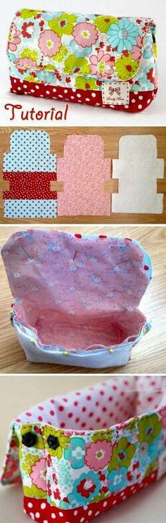 Fantastic Absolutely Free Sewing for beginners bags Popular Kosmetiktasche free … Sewing Hacks, Sewing Tutorials, Sewing Crafts, Sewing Tips, Sewing Ideas, Bags Sewing, Sewing Designs, Quilted Bag, Patchwork Bags