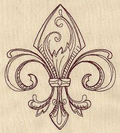 Embroidery Designs at Urban Threads - Vintage Fleur de Lis