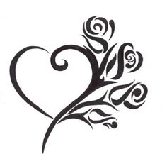 Tribal Heart Tattoo Designs For