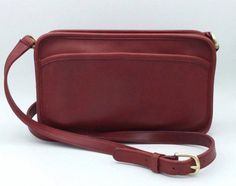 44761758befd Vintage Coach Red Multi Zip Crossbody Purse Coach Hobo, Coach Bags, Red Crossbody  Bag