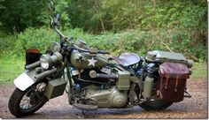 Captain America's Harley Davidson (1942 WLA Original USA Army inspired), built especially for Marvel (1 of 5).
