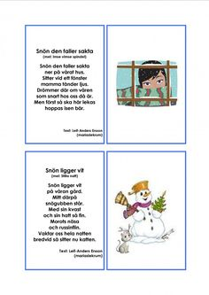 Mariaslekrum - Illustrerade sånger. Learn Swedish, Swedish Language, Pre School, Montessori, Singing, Crafts For Kids, Teacher, Education, Comics
