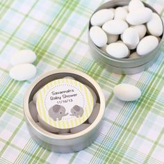 Clear Topped Candy Tin Favors