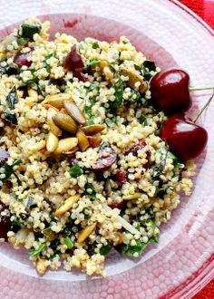 Whole Grain Salad with Swiss Chard & Cherries {gluten-free}