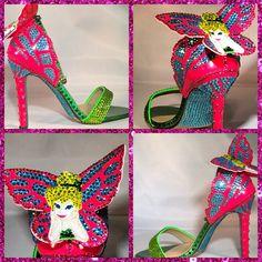 cb22b8f43754 Custom Tinkerbell PeterPan High Heels