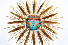 Sun Kachina Mask by Robert Rivera at the Torres Gallery, Santa Fe, New Mexico, US. (Beautiful!!!)