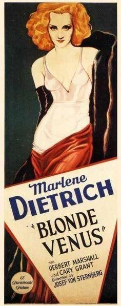 """Marlene Dietrich in Josef Von Sternberg's """"Blonde Venus""""."""
