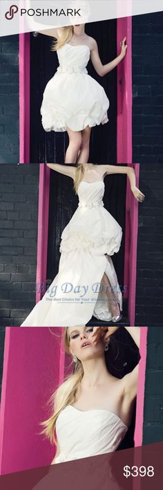 Henry Roth Wedding Dress/Gown, Ivory, Size 2 Two piece wedding gown with detachable taffeta skirt for ultimate style flexibility and picture opportunity moments. *Original Price $1850 *Worn once- Excellent condition *size 2 *color Ivory Henry Roth Dresses Wedding