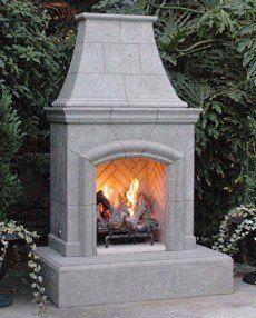Outdoor Gas Fireplace On Pinterest