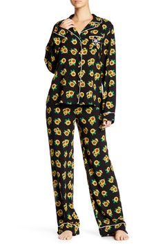 Contempo Sunflower Classic PJ 2-Piece Set by WILDFOX on @nordstrom_rack