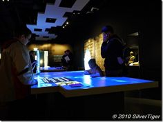 Using the interactive displays