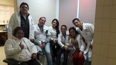 Parte del equipo de Bancos de Sangre en un día de Consultoría.