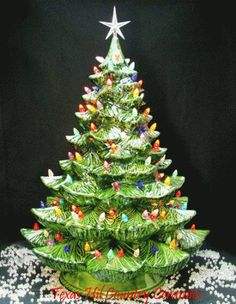 Vintage Ceramic Christmas Tree I Remember My Mom Always Hag These When Was Little Miss You Betty Holiday Pinterest Trees