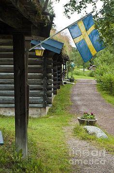 Swedish Village Print By Micah May