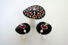 Queen of Hearts Shroom Collection by GolgiCeramicandTile on Etsy