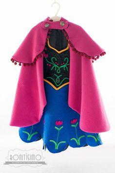 Como hacer un disfraz de Ana de Frozen, genial con paso a paso Ana Costume, Tutu Costumes, Doll Costume, Carnival Costumes, Halloween Costumes, Costume Ideas, Anna Dress Frozen, Frozen Elsa And Anna, Olaf Frozen