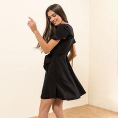 Short sleeve dress with belt #MYSbasic