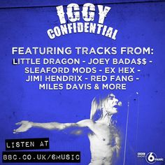 Join the Godfather of Punk @IggyPop as he plays some of his top tunes from his collection. http://bbc.in/1GCCldu