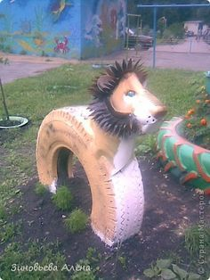 animals made out of tyres - Google Search