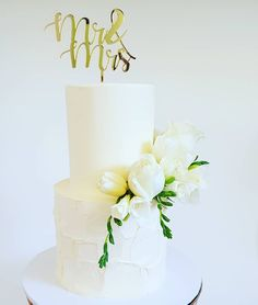 Wedding Cake: 2 tier textured buttercream with fresh blooms & custom acrylic topper by Studio Still Have, Frost, Wedding Cakes, Candle Holders, Bloom, Candles, Bride, Studio, Wedding Gown Cakes
