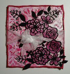MIX104 Tumbling pink flowers
