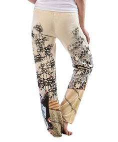 Loving this White Japanese Painting Sweatpants on #zulily! #zulilyfinds